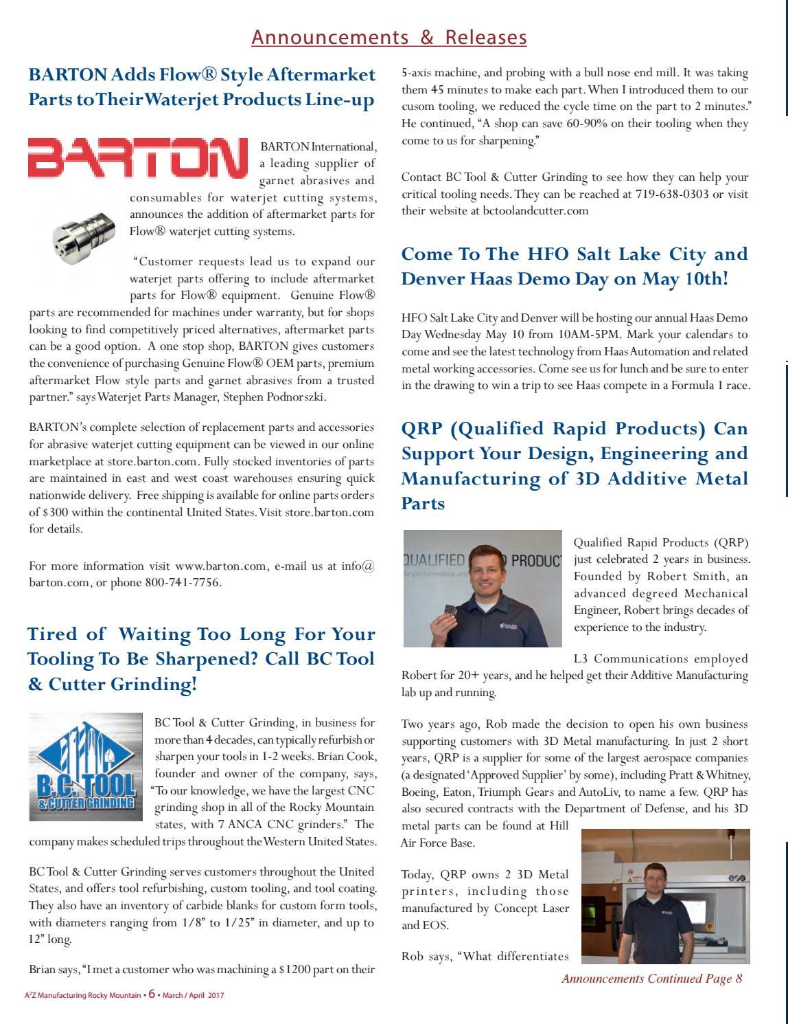 Rocky Mountain April A2Z Manufacturing Magazine by A2Z
