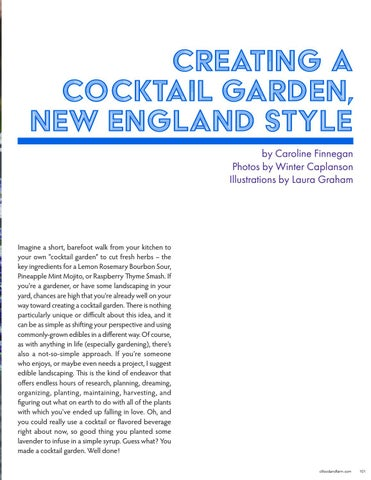 Page 101 of Creating A Cocktail Garden, New England Style