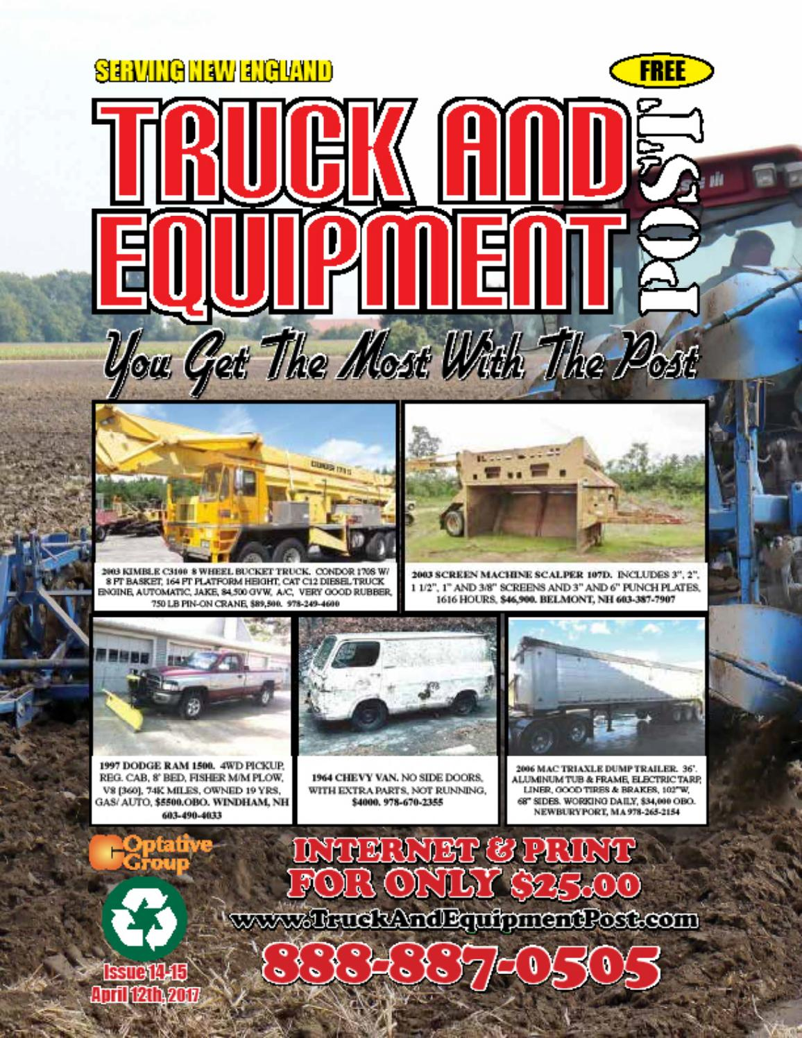 Truck Equipment Post 14 15 2017 By 1clickaway Issuu