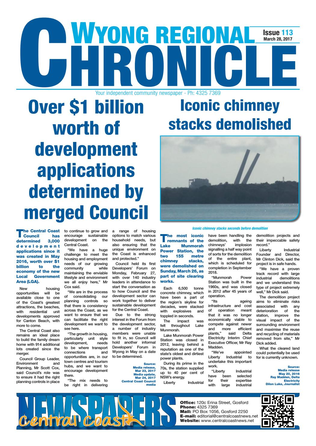 Issue 113 of wyong regional chronicle by central coast newspapers issue 113 of wyong regional chronicle by central coast newspapers issuu geenschuldenfo Choice Image