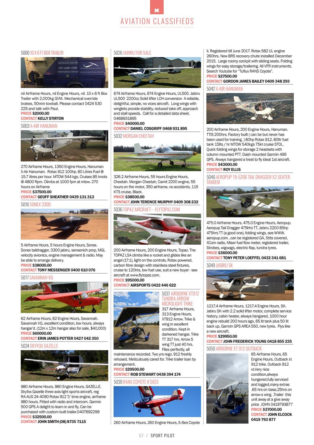 Sport pilot 68 april 2017 by Recreational Aviation Australia - issuu