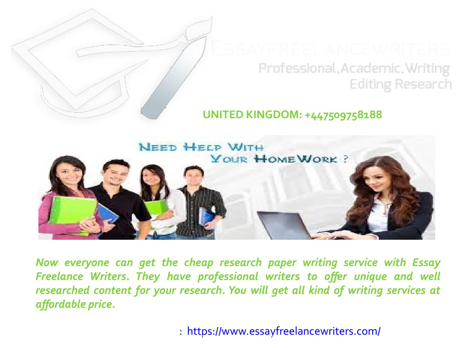 Affordable research paper writing