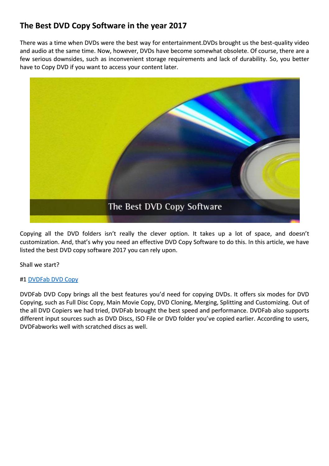 The best dvd copy software in the year 2017 by victorhan - issuu