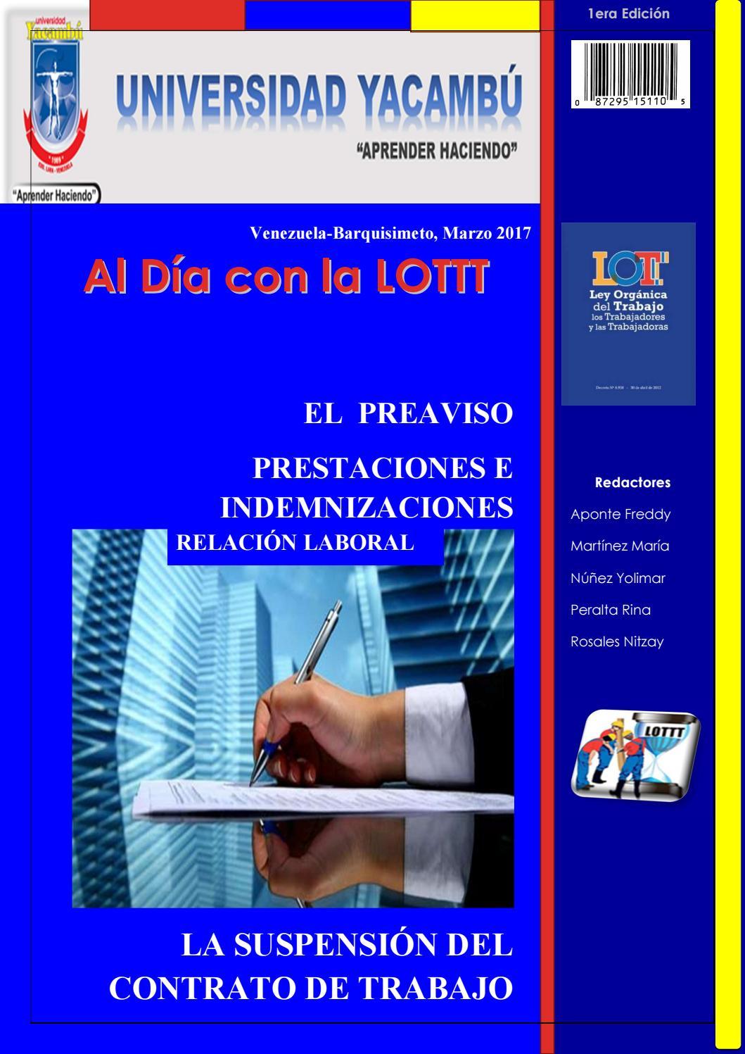 Al Día con la LOTTT by MARIAJOSEMARTINEZ - issuu