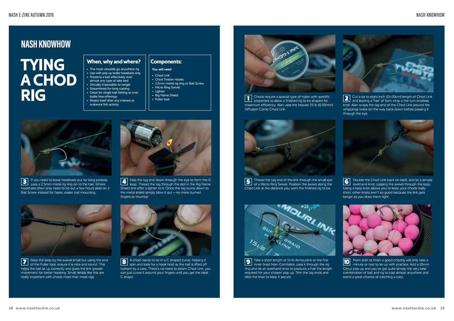 Tying the Chod rig by Official Nash Tackle - issuu