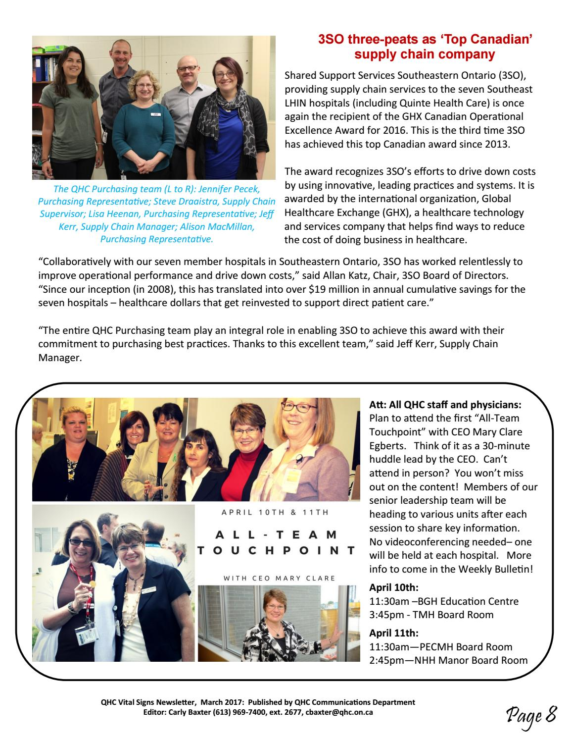 March 2017 vital signs web by Quinte Health Care - issuu