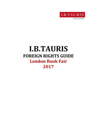 London Book Fair 2017 Foreign Rights By I B Tauris Issuu
