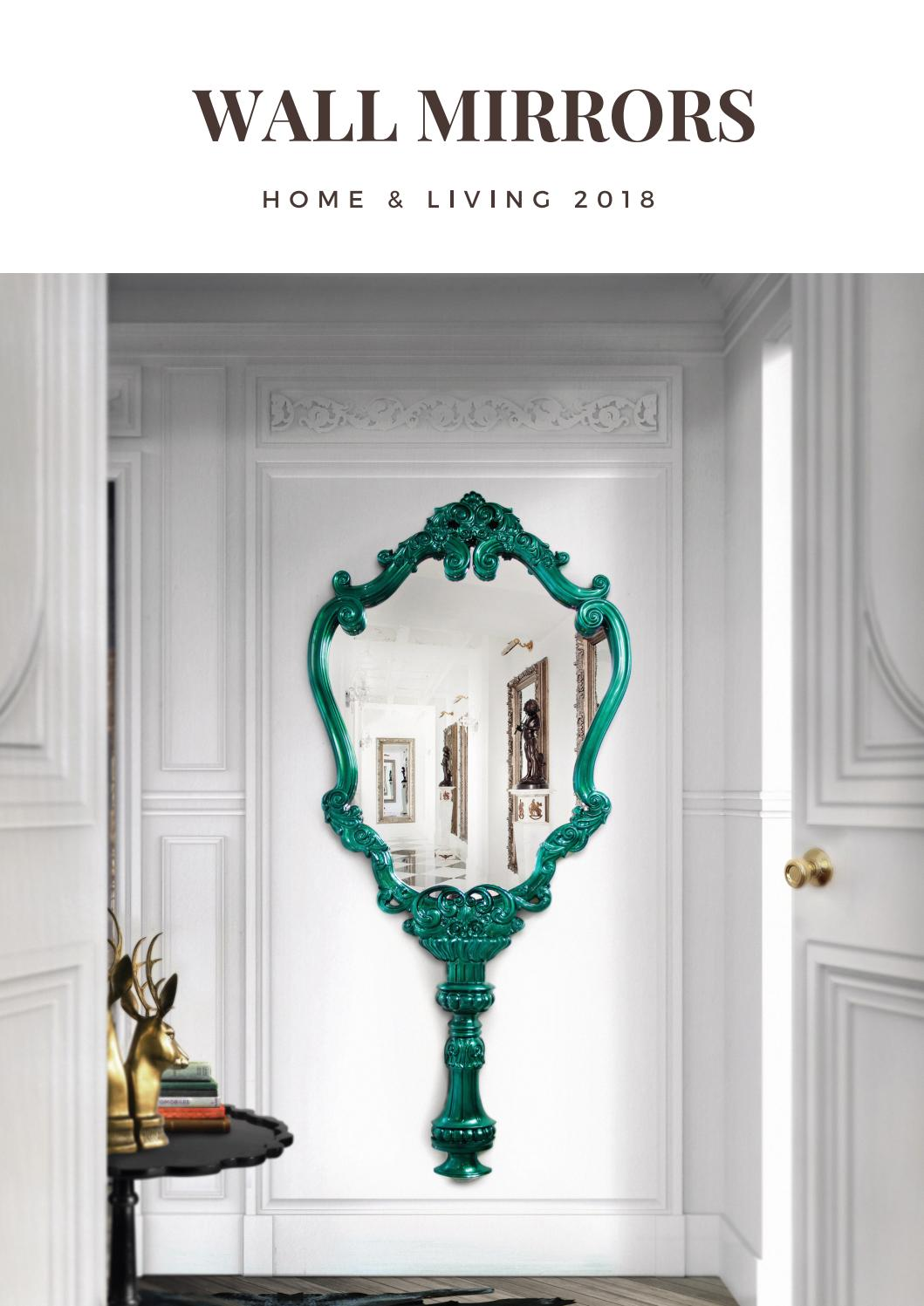 Wall mirrors decor home ideas interior design trends 2018 luxury brands home living by home - Home decor wall mirrors collection ...