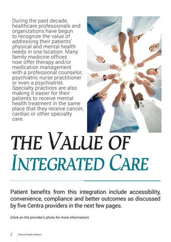 Page 2 of The Value of Integrated Care