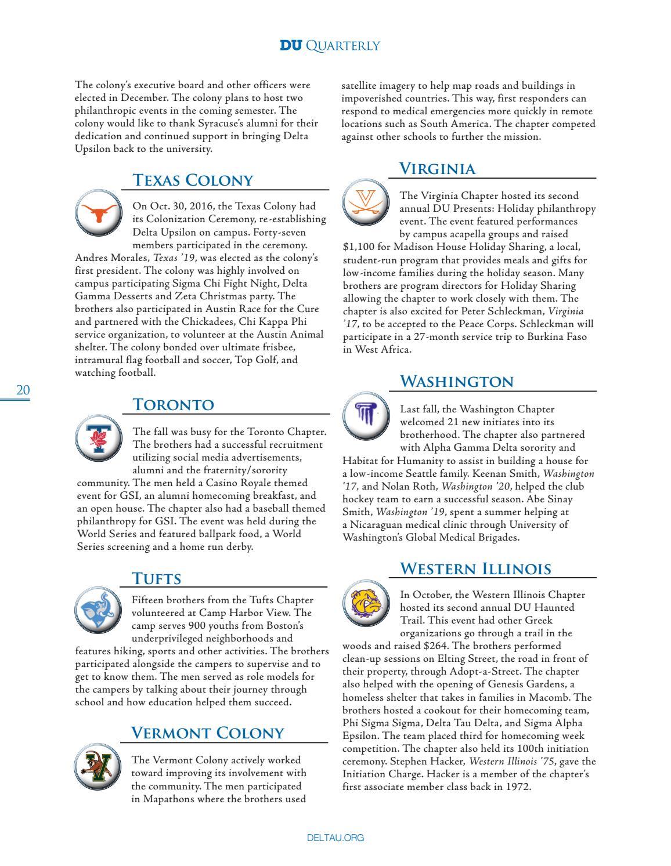 DU Quarterly: Vol  135 No  1 by Delta Upsilon - issuu