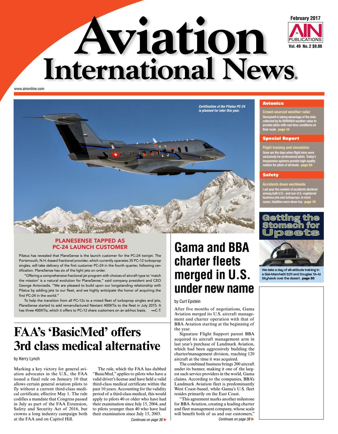 Aviation international news february 2017