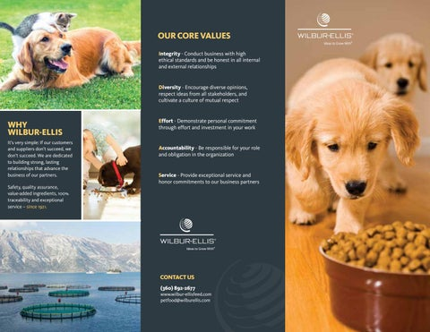 Wilbur-Ellis Pet Food Leaflet - 2017 by Wilbur-Ellis Company