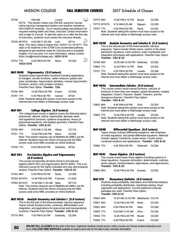2017 mission college summerfall schedule by mission college issuu page 80 mission college fandeluxe Image collections