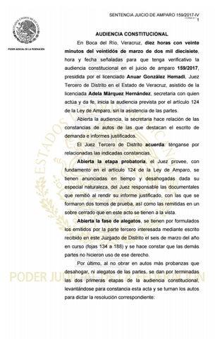 Sentencia De Amparo A Favor De Diego Cruz By Pajaropolitico