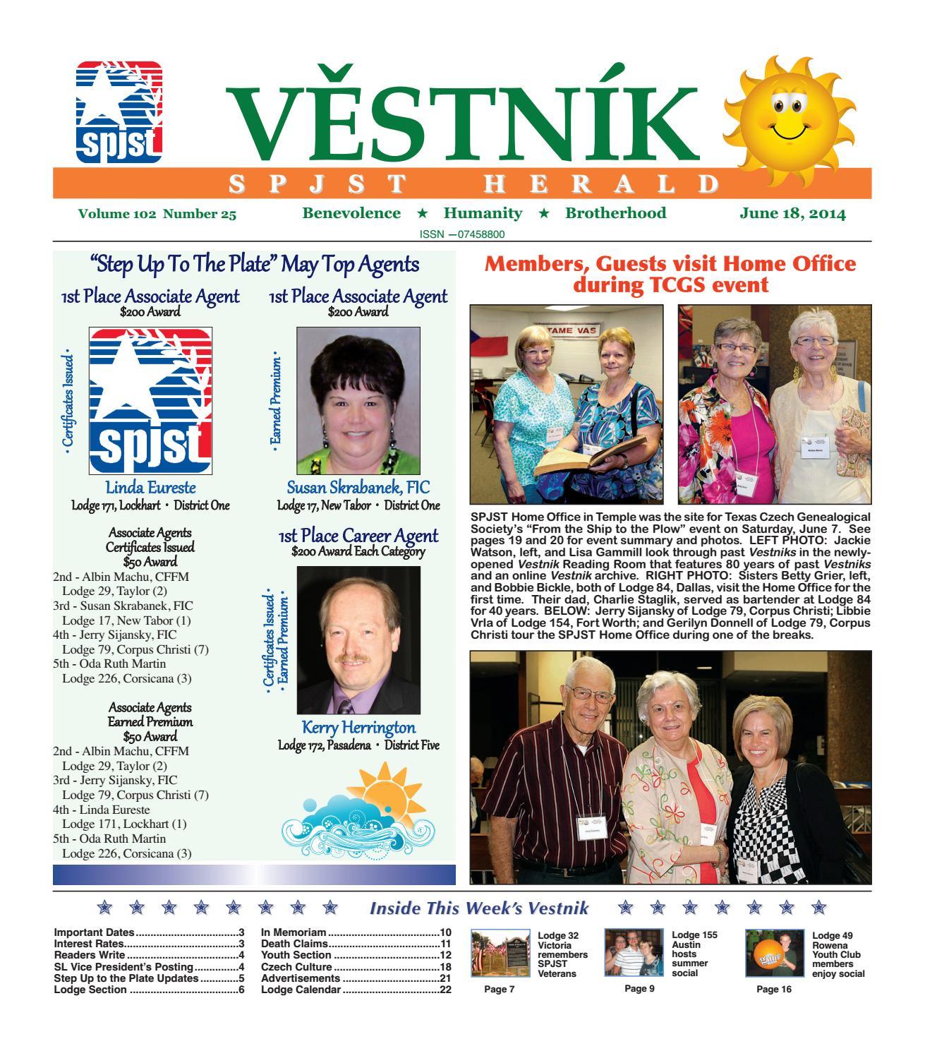 a18c6cb4ba4b74 Vestnik 2014 06 18 by SPJST - issuu
