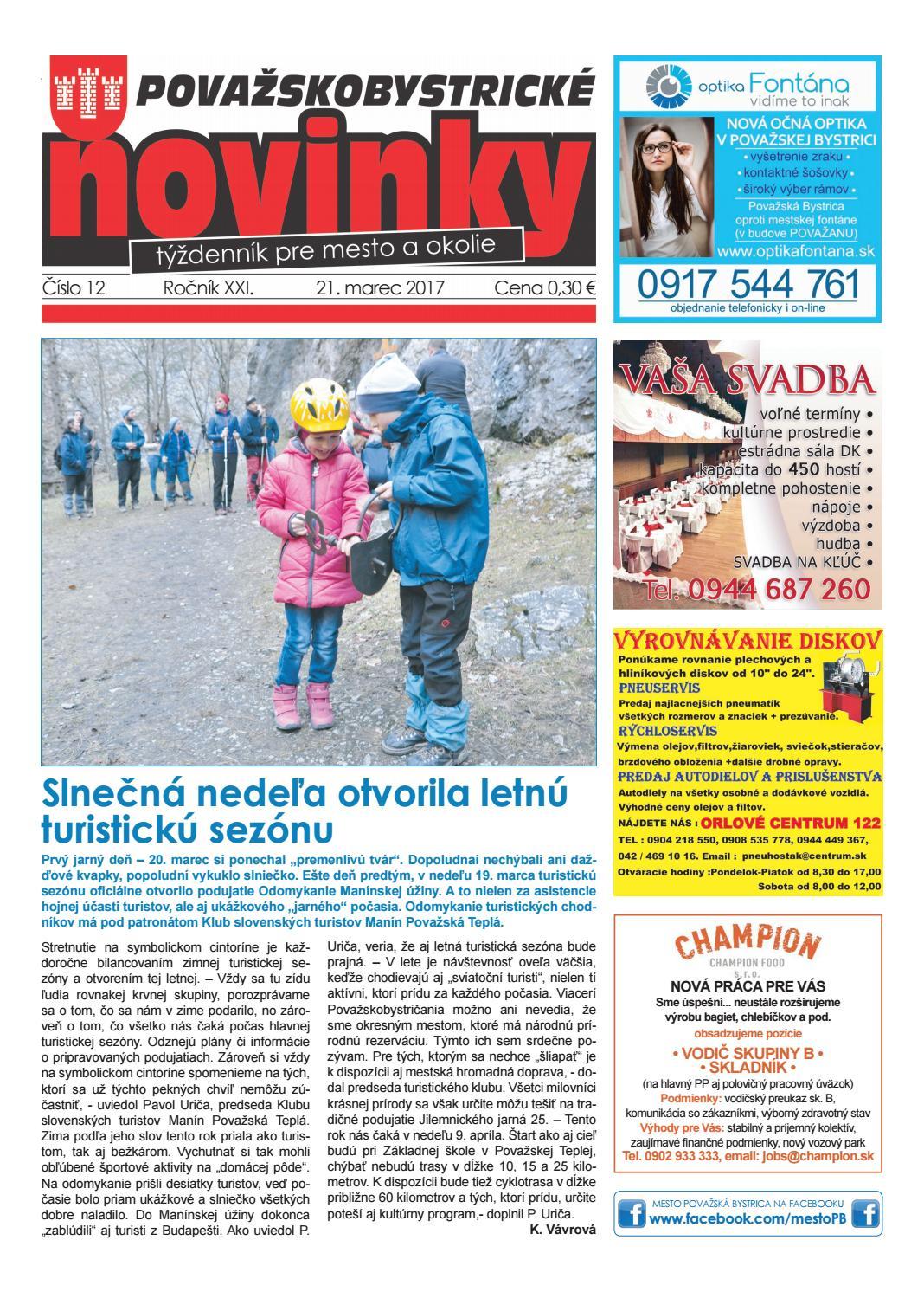 116423dc8242 Považskobystrické novinky č. 12 2017 by Považskobystrické novinky - issuu