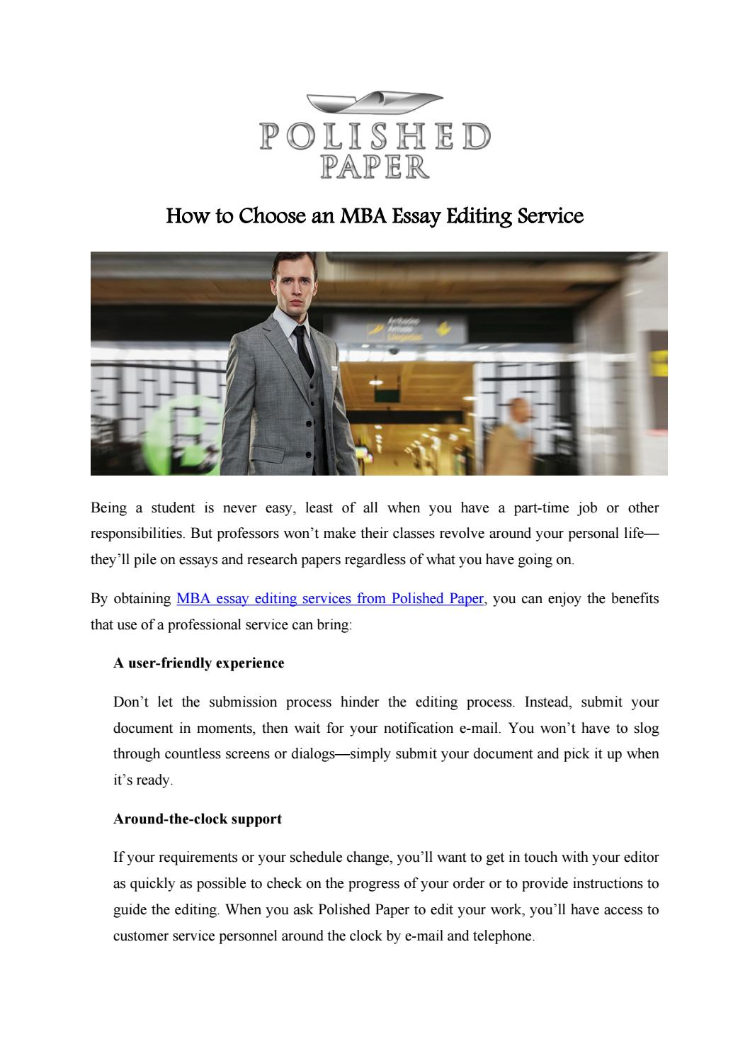 best mba essay editing services Get top notch mba essay writing help services online by an expert mba essay  writer in your discipline book your plagiarized free mba admission essay & mba .
