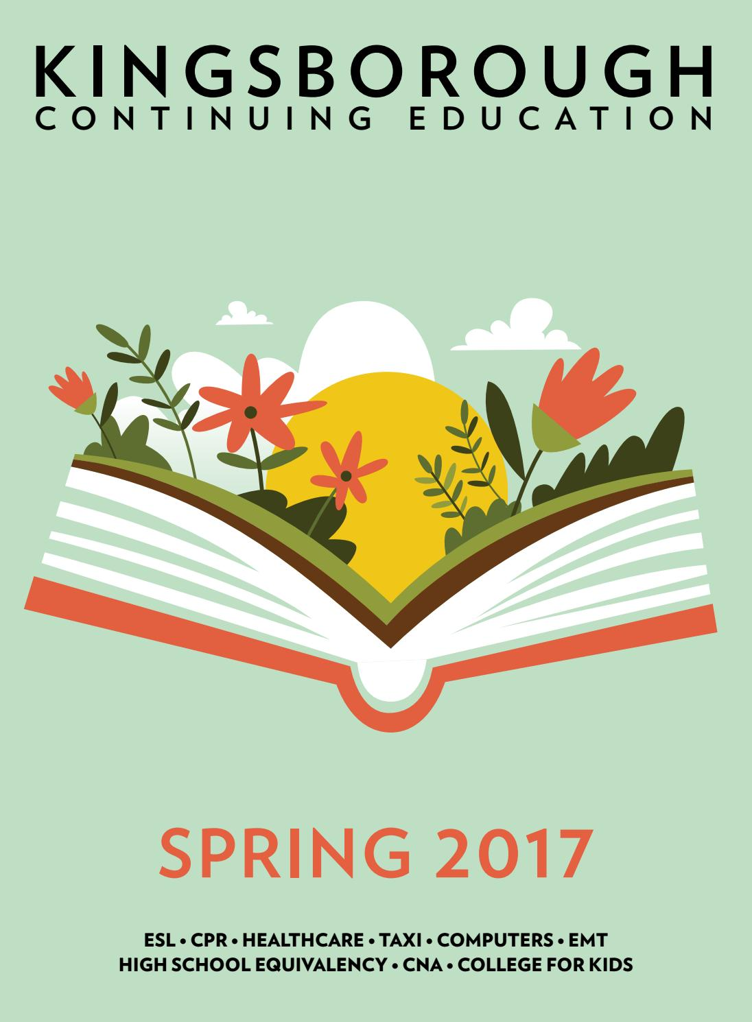 Kingsborough Continuing Education Spring 2017 by Kingsborough Office ...