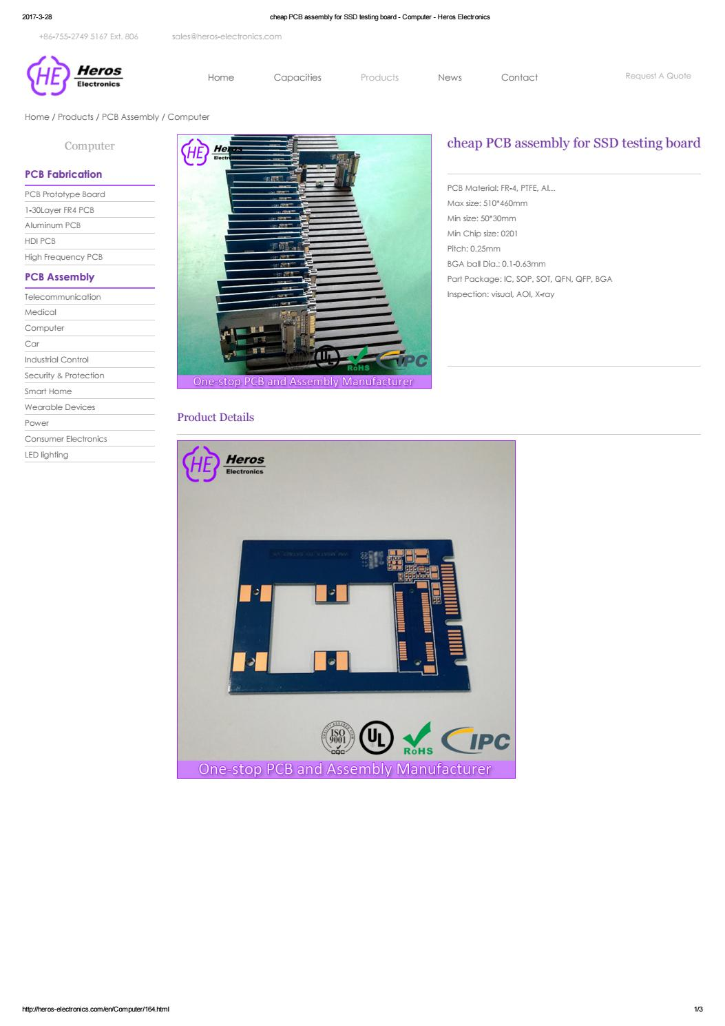 Cheap Pcb Assembly For Ssd Testing Board Computer Heros Electronics High Quality Hdi Circuit Made In China Sale By Shenzhen Co Ltd Issuu