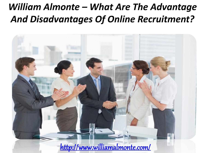 advantages and disadvantages of online recruitment