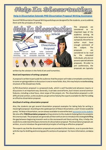 dissertation assistance writing