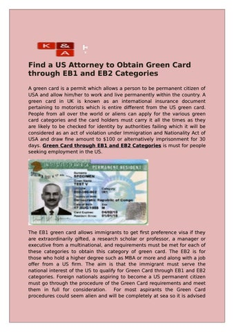 Eb1 or eb2 green card