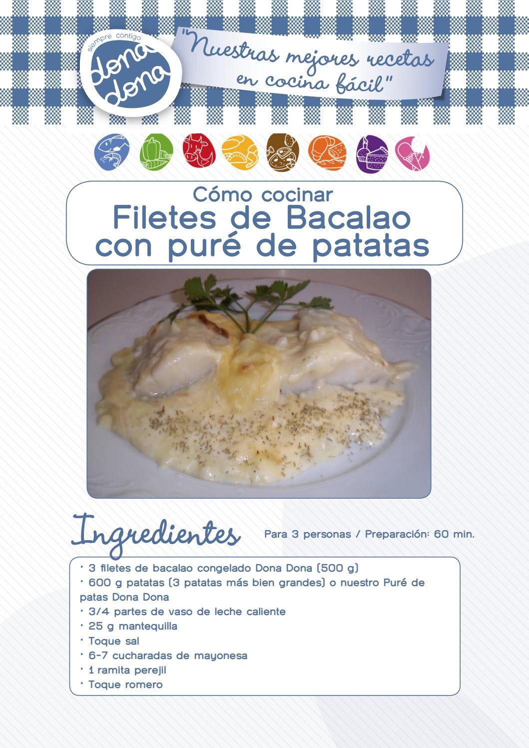 Bacalao con pur de patatas by donadona issuu - Como cocinar bacalao congelado ...
