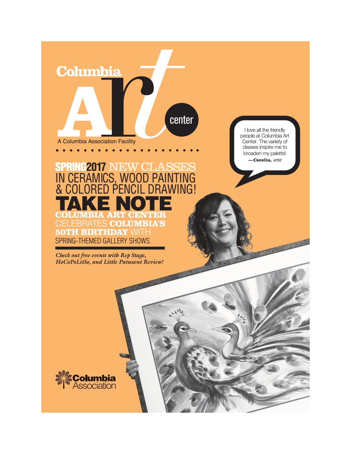 Columbia art center spring 2017 catalogue by columbia for Columbia craft show 2017