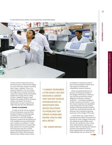Page 13 of Pharmacy Faculty Excel in research
