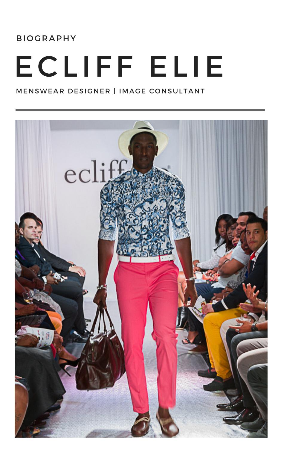 Biography Designer Ecliff Elie By Etcetera The Company Pr Issuu