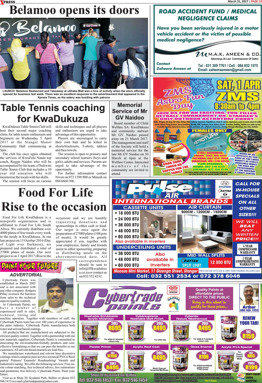 Xpress times 31 03 2017 by Ahmed Desai - issuu