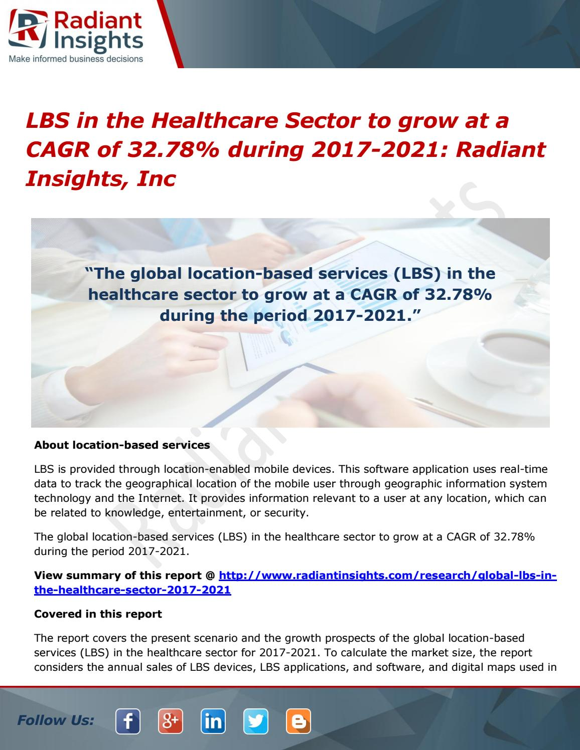 Lbs in the healthcare sector is Poised to Reach cagr of 32