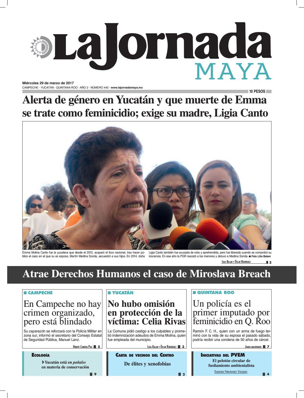 La Jornada Maya · Miércoles 29 de marzo 350ee441ff11