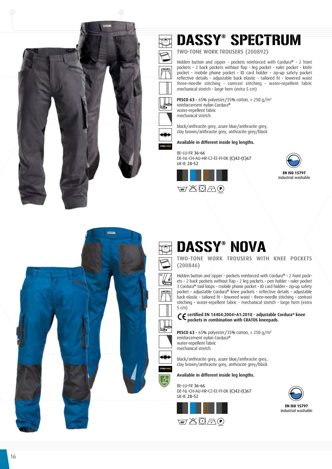 DASSY Work Trousers Nova 200846 Clay Brown Anthracite Waistband Trousers Stretch