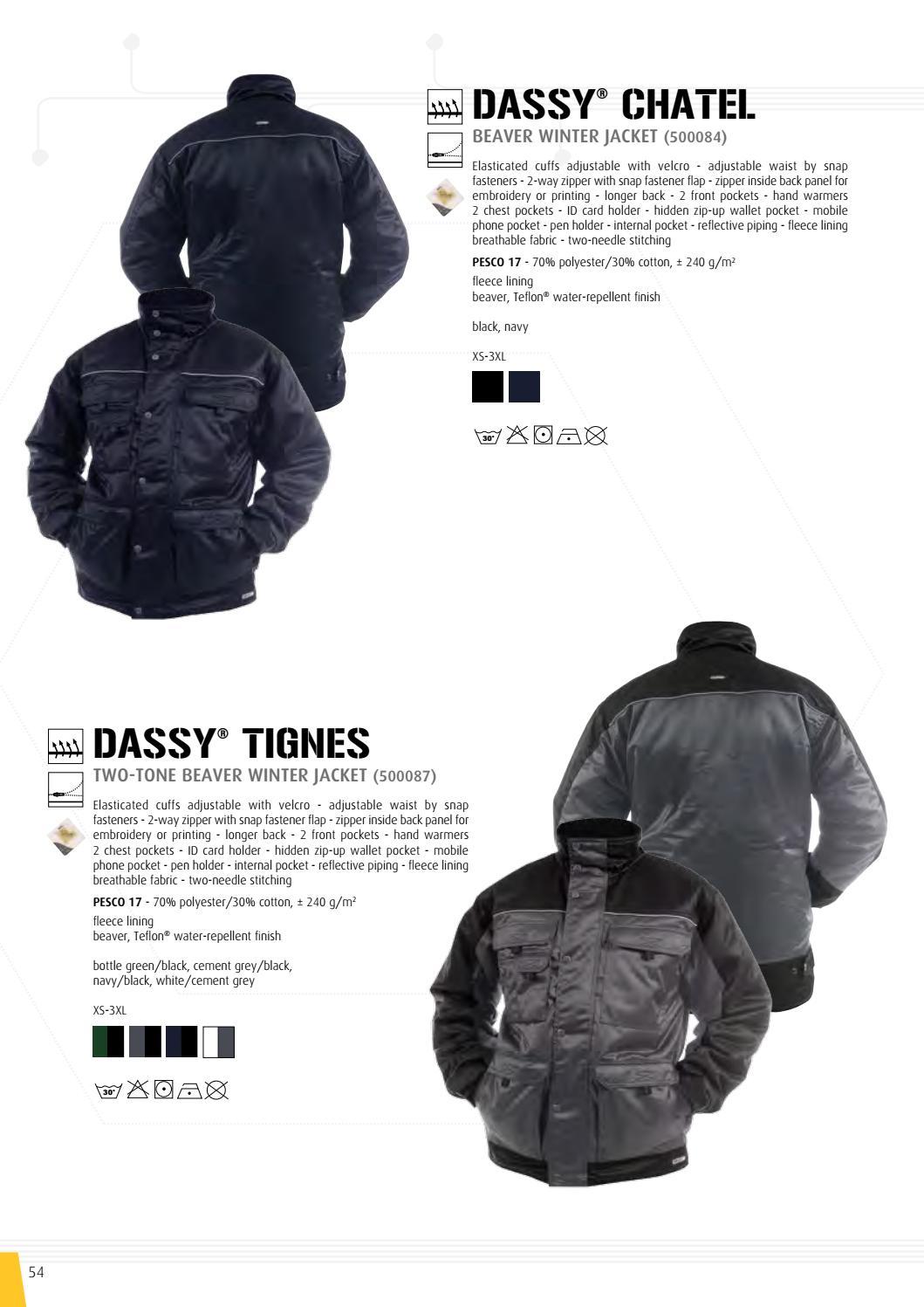 Brochure Dassy, professional workwear by Zijlstra