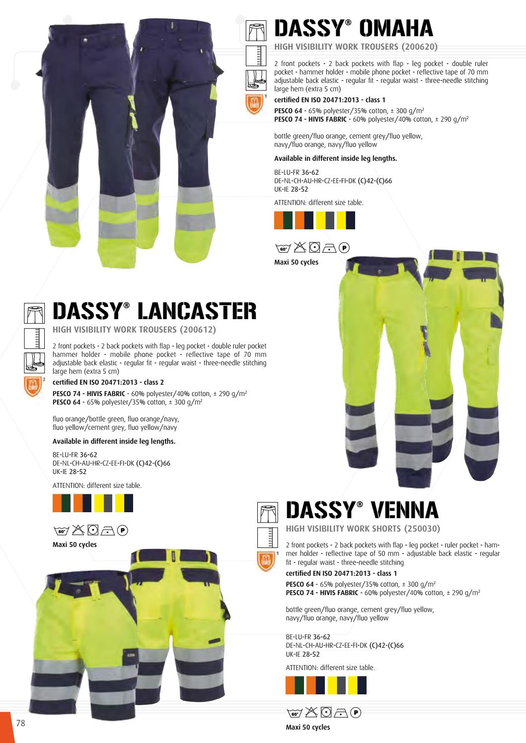 Orange//Navy Dassy Workwear OMAHA 200620 High Visibility Work Trouser