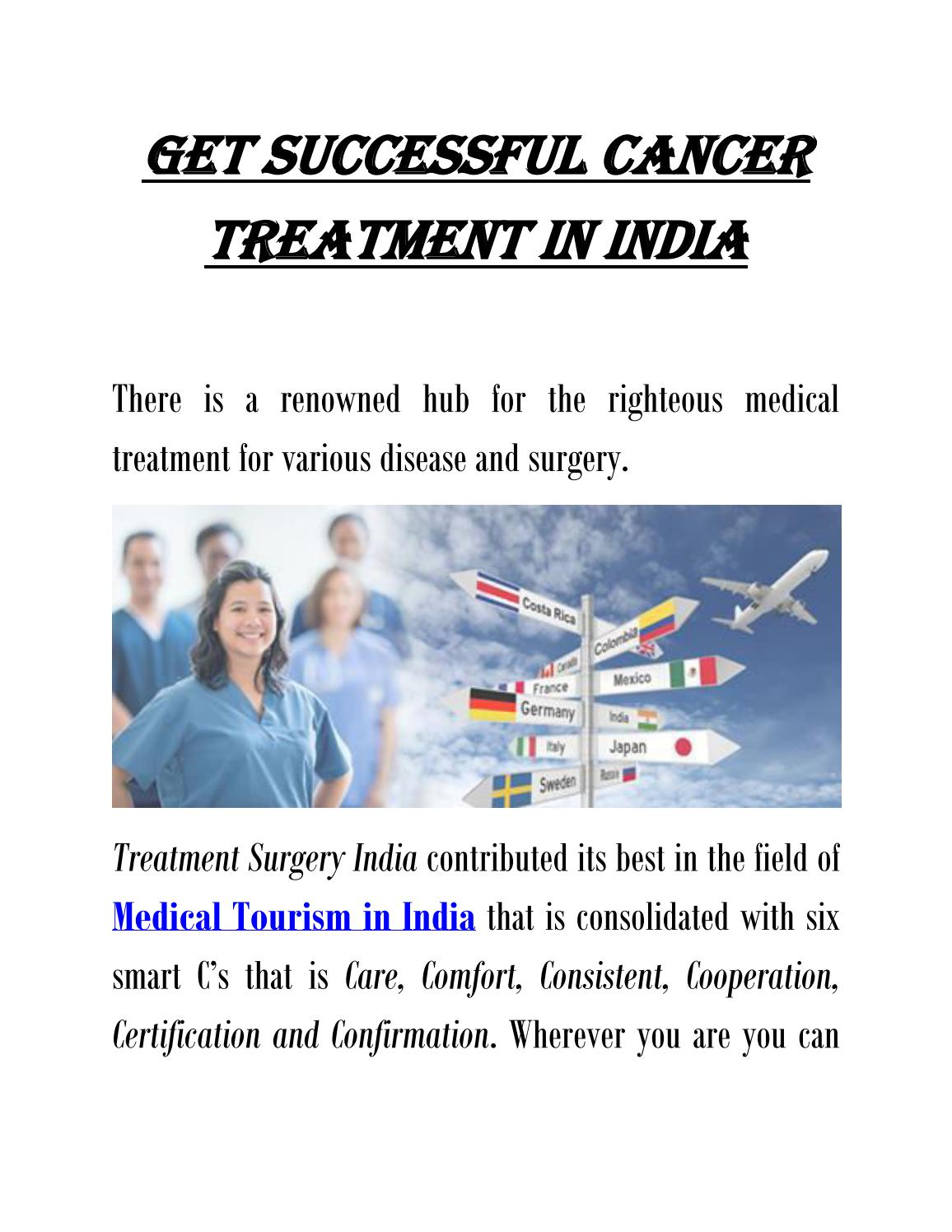 Get Successful Cancer Treatment in India by