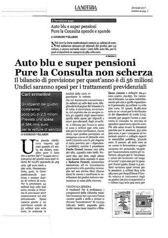 Auto blu e super pensioni pure la consulta spende e spande auto blu e super  pensioni pure la consult 82e23078e8d