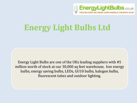 Save energy with energy light bulbs ltd by energylightbulbs - issuu:Page 1,Lighting