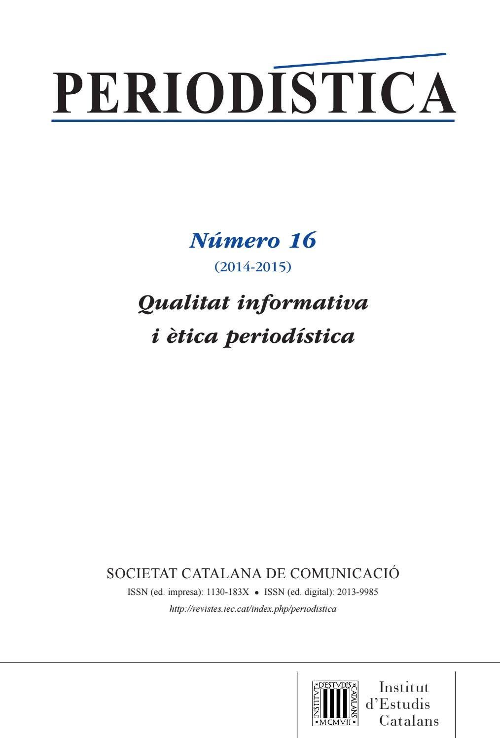 Periodística by Institut d\'Estudis Catalans - issuu