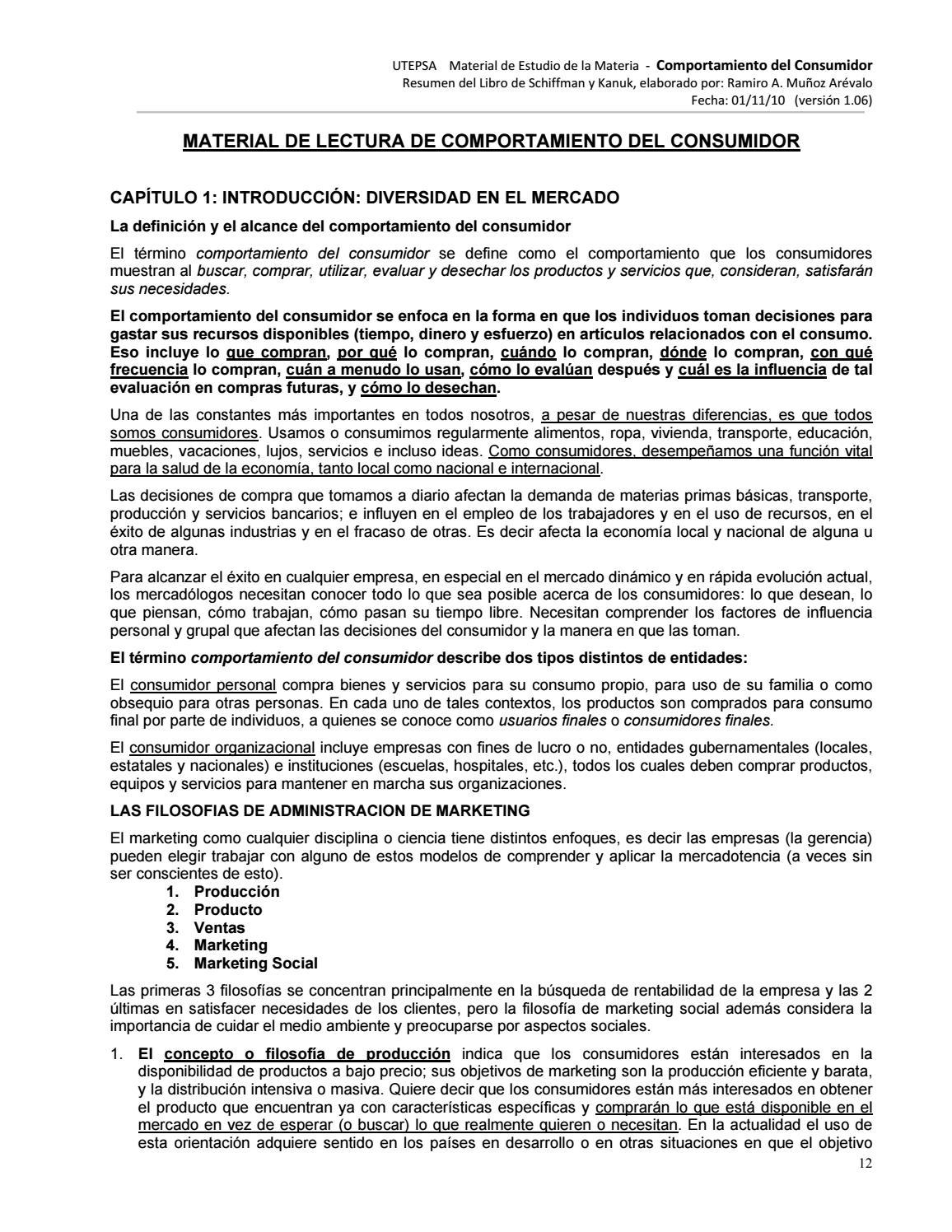 42326096 resumen comportamiento del consumidor by EMMA VERONICA ...