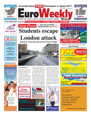 d19e7522b47 Euro Weekly News - Costa Blanca South 30 March - 5 April 2017 Issue ...