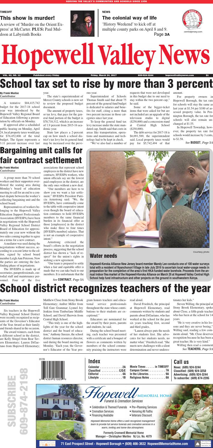 Hopewell Valley News 2017-03-24 by centraljersey.com - NEWSPAPERS - issuu