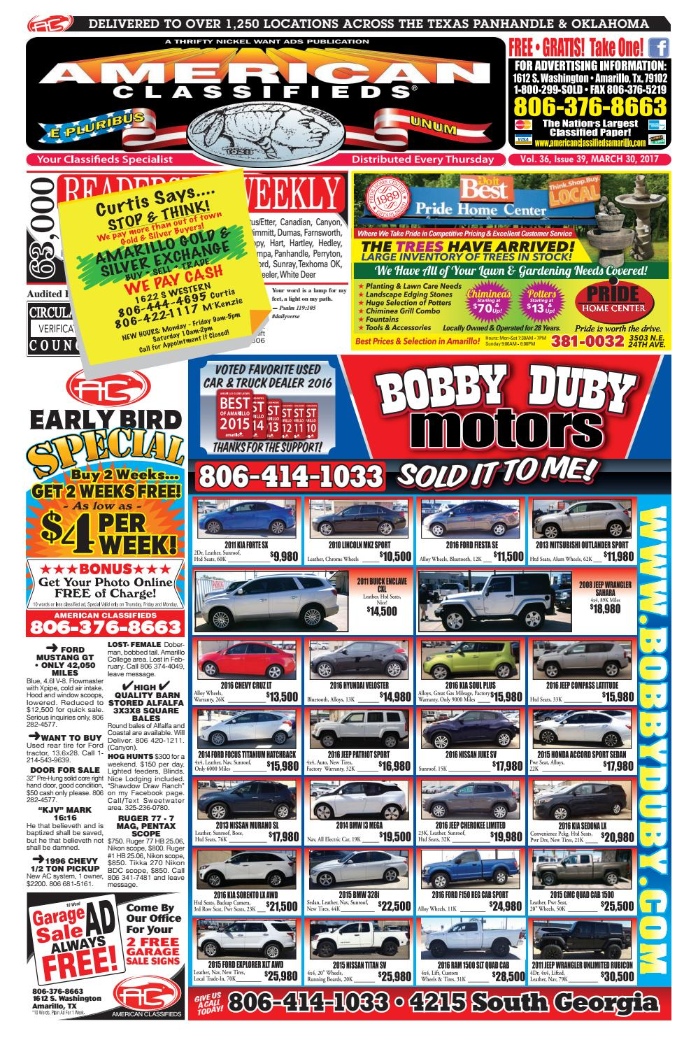 American Classifieds | Amarillo, TX | March 30, 2017 by