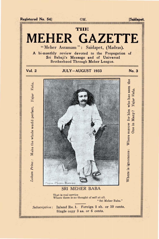 Meher Gazette Volume Two Number Three - Alt by AMBCSC