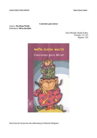 Maria Elena Walsh Canciones By Yamila Escobar Issuu