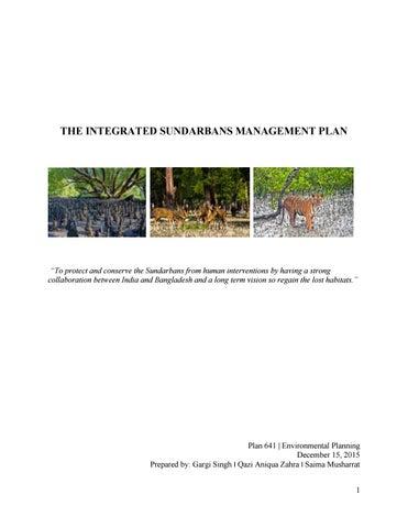 environmental plan of the sundarbans the largest mangrove