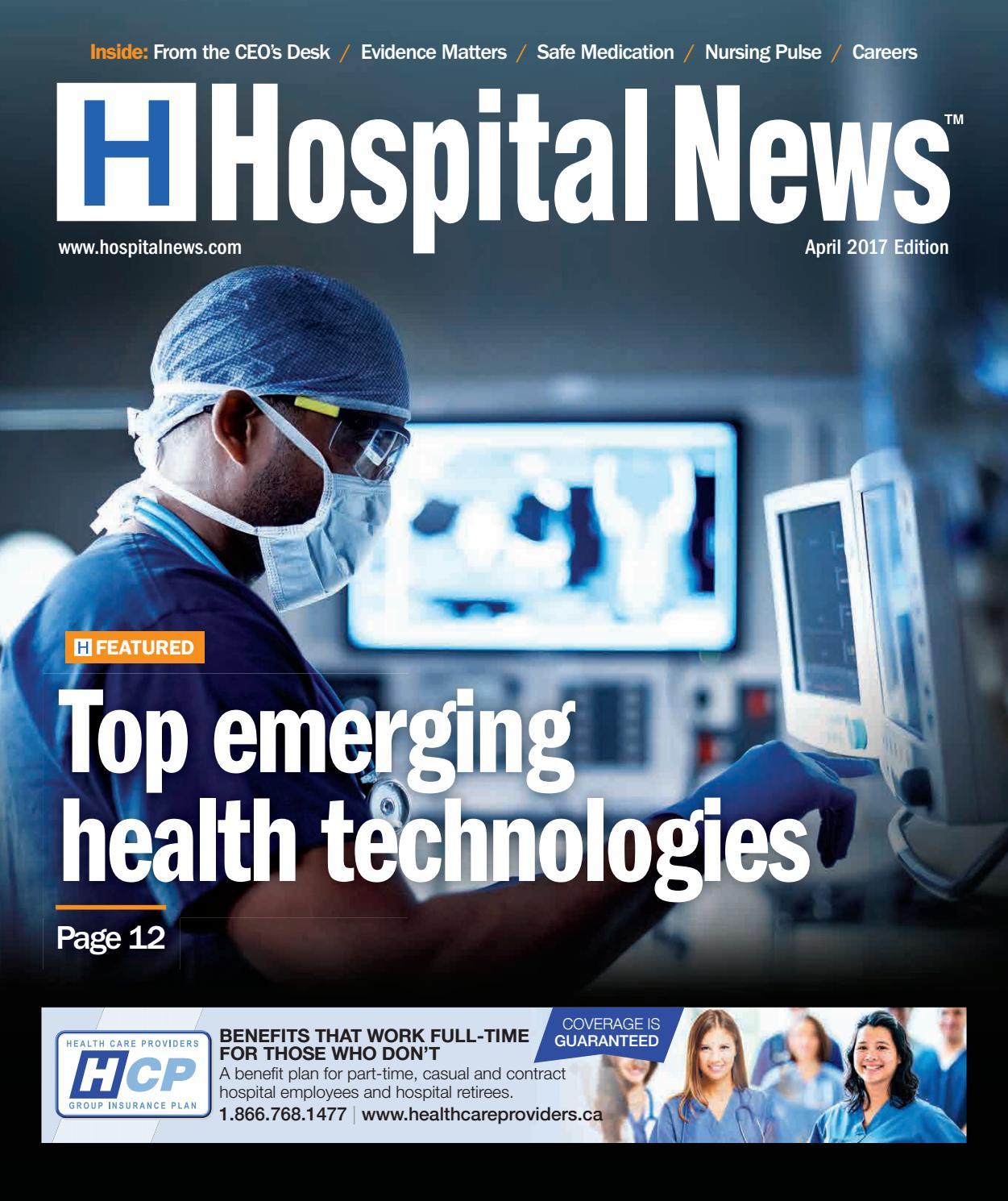 4bb968dbcd Hospital News 2017 April Edition by Hospital News - issuu