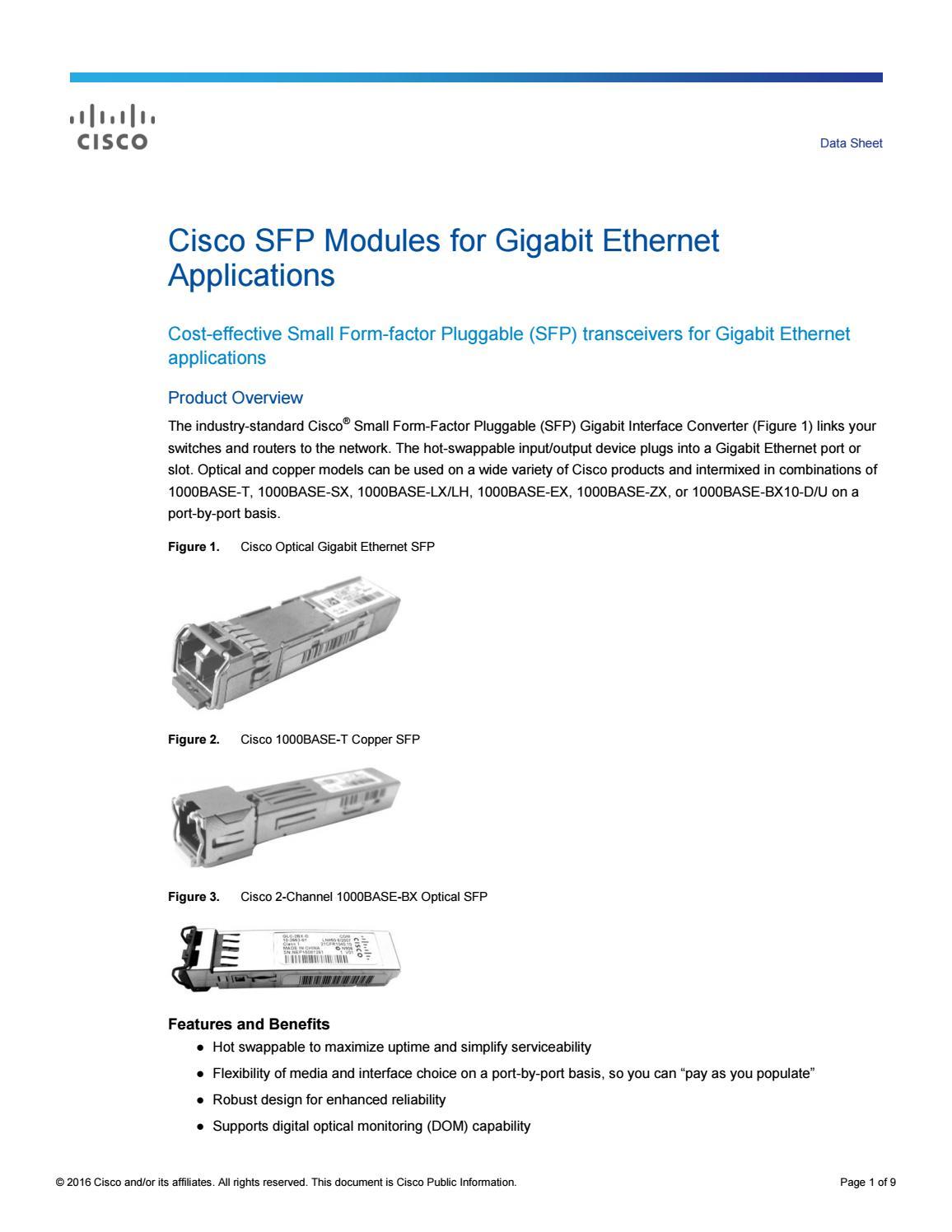 datasheet module quang cisco by CNTTShop - issuu