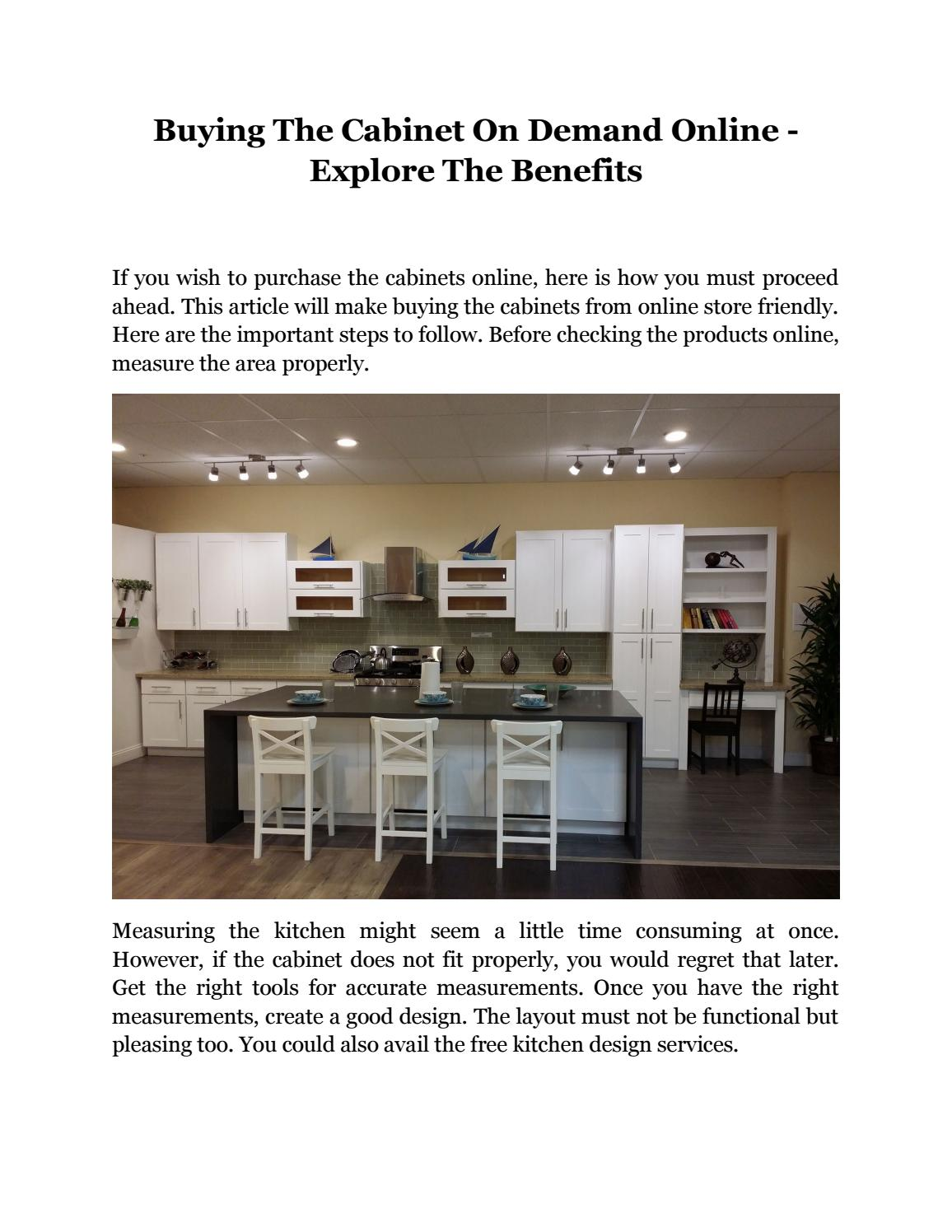 Buying The Cabinet On Demand Online-Explore The Benefits by ...